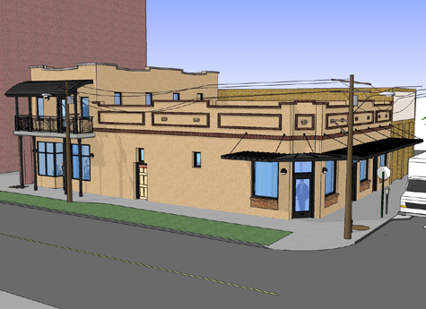 Historic Ybor City Project - Office Building - Concept Drawing 2