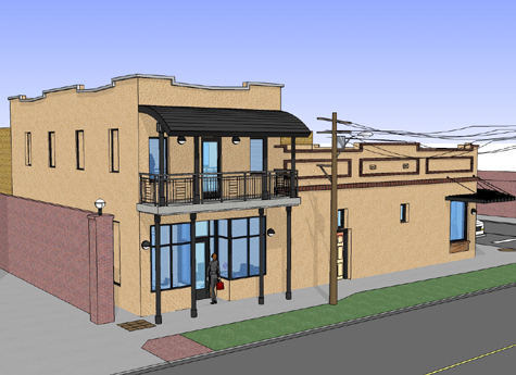 Historic Ybor City Project - Office Building - Concept Drawing 3
