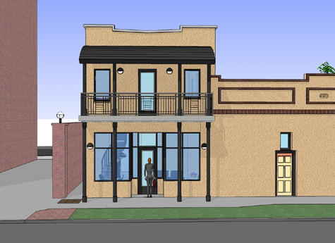 Historic Ybor City Project - Office Building - Concept Drawing 4